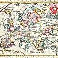 1706 De La Feuille Map Of Europe by Paul Fearn