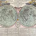 1707 Homann And Doppelmayr Map Of The Moon  by Paul Fearn