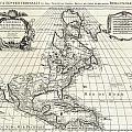 1708 De Lisle Map Of North America Covens And Mortier Ed Geographicus Ameriqueseptentrionale Covensm by MotionAge Designs