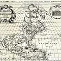 1708 De Lisle Map Of North America by Paul Fearn