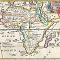 1710 De La Feuille Map Of Africa by Paul Fearn