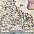 1710 De La Feuille Map Of The Netherlands Belgium And Luxembourg  by Paul Fearn