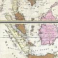 1710 Ottens Map Of Southeast Asia Singapore Thailand Siam Malaysia Sumatra Borneo by Paul Fearn