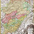 1716 Homann Map Of Burgundy France Geographicus Burgundiae Homan 1716 by MotionAge Designs