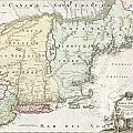 1716 Homann Map Of New England by Paul Fearn