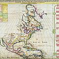 1720 Chatelain Map Of North America Geographicus Amerique Chatelain 1720 by MotionAge Designs