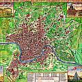 1721 John Senex Map Of Rome Geographicus Rome Sennex 1721 by MotionAge Designs