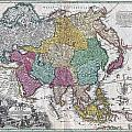 1730 C Homann Map Of Asia Geographicus Asiae Homann 1730 by MotionAge Designs