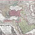 1730 Seutter Map Of Turkey Ottoman Empire Persia And Arabia by Paul Fearn