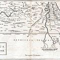 1730 Toms Map Of Central Africa by Paul Fearn