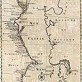 1730 Van Verden Map Of The Caspian Sea by Paul Fearn