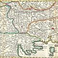 1738 Ratelband Map Of The Balkans by Paul Fearn