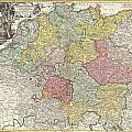 1740 Homann Map Of The Holy Roman Empire by Paul Fearn