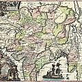 1740 Seutter Map Of India Pakistan Tibet And Afghanistan by Paul Fearn