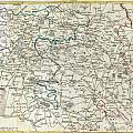 1740 Zatta Map Of Central France And The Vicinity Of Paris  by Paul Fearn