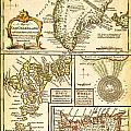 1747 Bowen Map Of The North Atlantic Islands Greenland Iceland Faroe Islands Maelstrom Geographicus  by MotionAge Designs