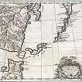1750 Bellin Map Of The Kuril Islands by Paul Fearn
