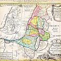 1750 Homann Heirs Map Of Israel Palestine Holy Land 12 Tribes Geographicus Palestina Homannheirs 175 by MotionAge Designs