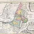 1750 Homann Heirs Map Of Israel  Palestine Holy Land  by Paul Fearn