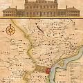 1752  Scull  Heap Map Of Philadelphia And Environs by Paul Fearn