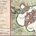 1756 Bellin Map Of Boston Massachusetts by Paul Fearn