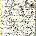 1762 Bonne Map Of Egypt  by Paul Fearn
