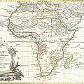1762 Janvier Map Of Africa by Paul Fearn