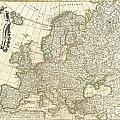 1762 Janvier Map Of Europe  by Paul Fearn