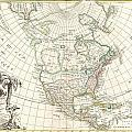 1762 Janvier Map Of North America  by Paul Fearn