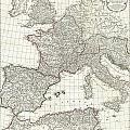 1763 Anville Map Of The Western Roman Empire by Paul Fearn