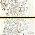 1763 De Lisle Map Of The Holy Land by Paul Fearn