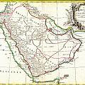 1771 Bonne Map Of Arabia Geographicus Arabia Bonne 1771 by MotionAge Designs