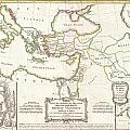 1771 Bonne Map Of The New Testament Lands Holy Land And Jerusalem by Paul Fearn