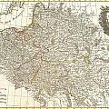 1771 Zannoni Map Of Poland And Lithuania by Paul Fearn