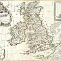 1771 Zannoni Map Of The British Isles  by Paul Fearn