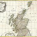1772 Bonne Map Of Scotland  by Paul Fearn