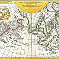 1772 Vaugondy And Diderot Map Of The Pacific Northwest And The Northwest Passage by Paul Fearn