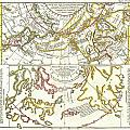 1772 Vaugondy Diderot Map Of Alaska The Pacific Northwest And The Northwest Passage by Paul Fearn