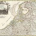 1775 Janvier Map Of Holland And Belgium by Paul Fearn