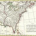 1776 Bonne Map Of Louisiana And The British Colonies In North America by Paul Fearn