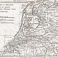 1780 Raynal And Bonne Map Of Holland And Belgium by Paul Fearn
