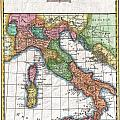 1780 Raynal And Bonne Map Of Italy by Paul Fearn