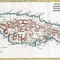 1780 Raynal And Bonne Map Of Jamaica West Indies by Paul Fearn