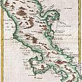 1780 Raynal And Bonne Map Of Martinique West Indies by Paul Fearn