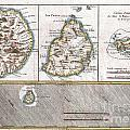 1780 Raynal And Bonne Map Of Mascarene Islands Reunion Mauritius Bourbon by Paul Fearn
