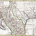 1780 Raynal And Bonne Map Of Mexico And Texas  by Paul Fearn