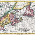 1780 Raynal And Bonne Map Of New England And The Maritime Provinces by Paul Fearn