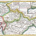 1780 Raynal And Bonne Map Of Northern India by Paul Fearn