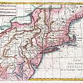 1780 Raynal And Bonne Map Of Northern United States by Paul Fearn