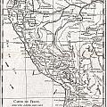 1780 Raynal And Bonne Map Of Peru by Paul Fearn